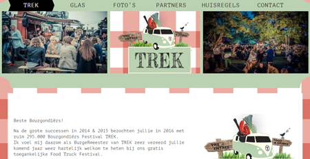 Website Festival Trek, Landelijk groots food event