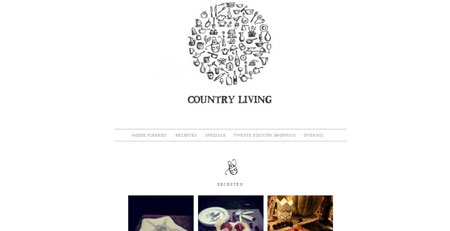 Website Cooking and lifestyle minimal design