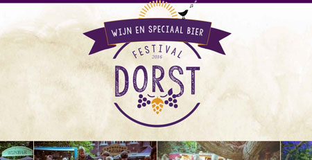 Website Festival Dorst landelijk reizend Wine and Food Event!
