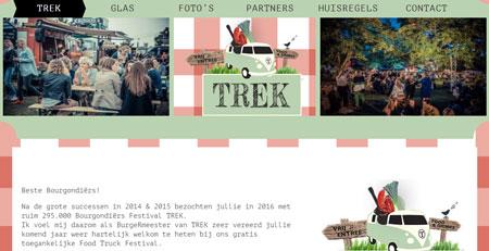 Website Festival Trek 2015-16-17, Landelijk reizend groots food event
