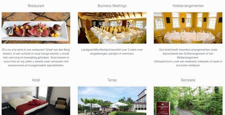 Website voor landgoed Montferland Arnhem Hotel & Restaurant