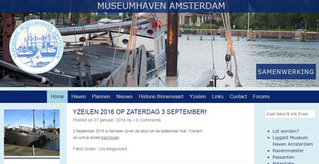 Traditionele website Museum Haven Scheepvaartmuseum Amsterdam
