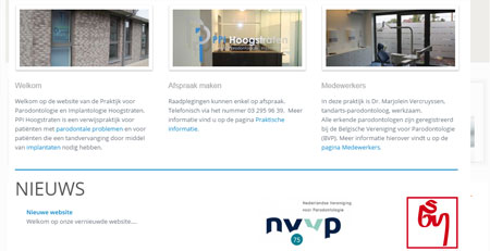 Website voor Gezondheidskliniek Kaak & Parodontologie