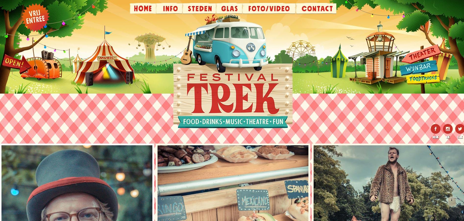 Festival Trek nieuwe Website 2019 ism Zender.nu